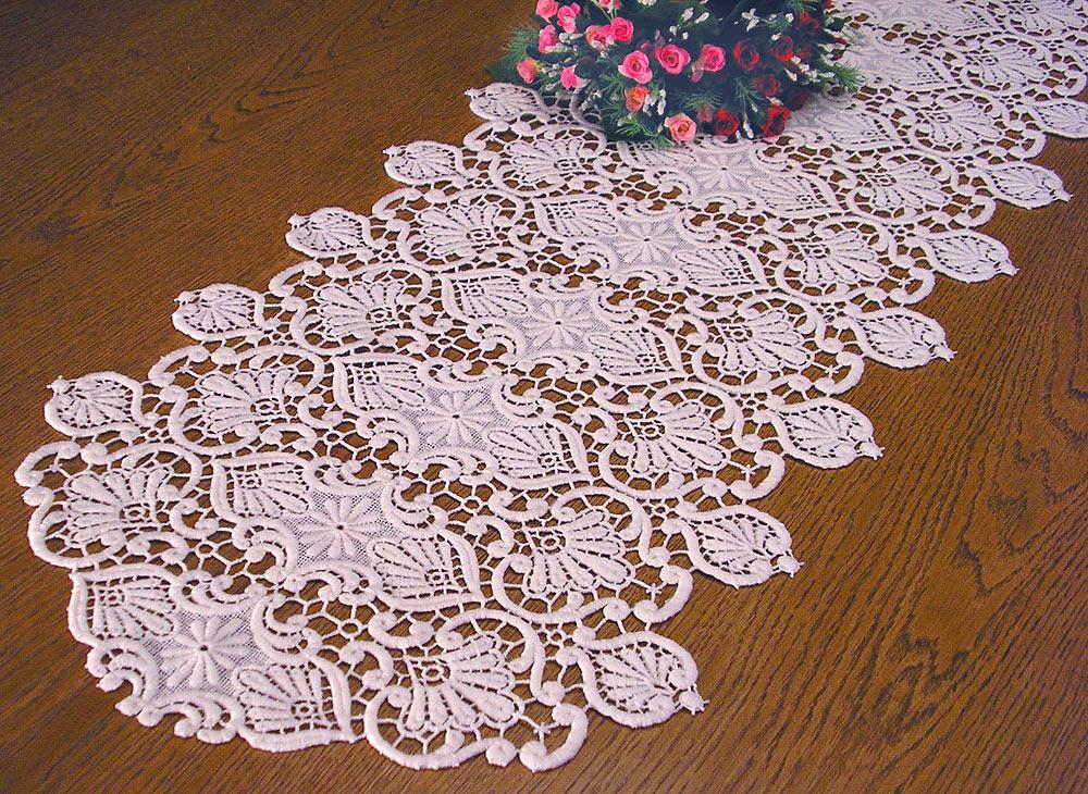 Chemin de table en macram classic for Chemin de table crochet