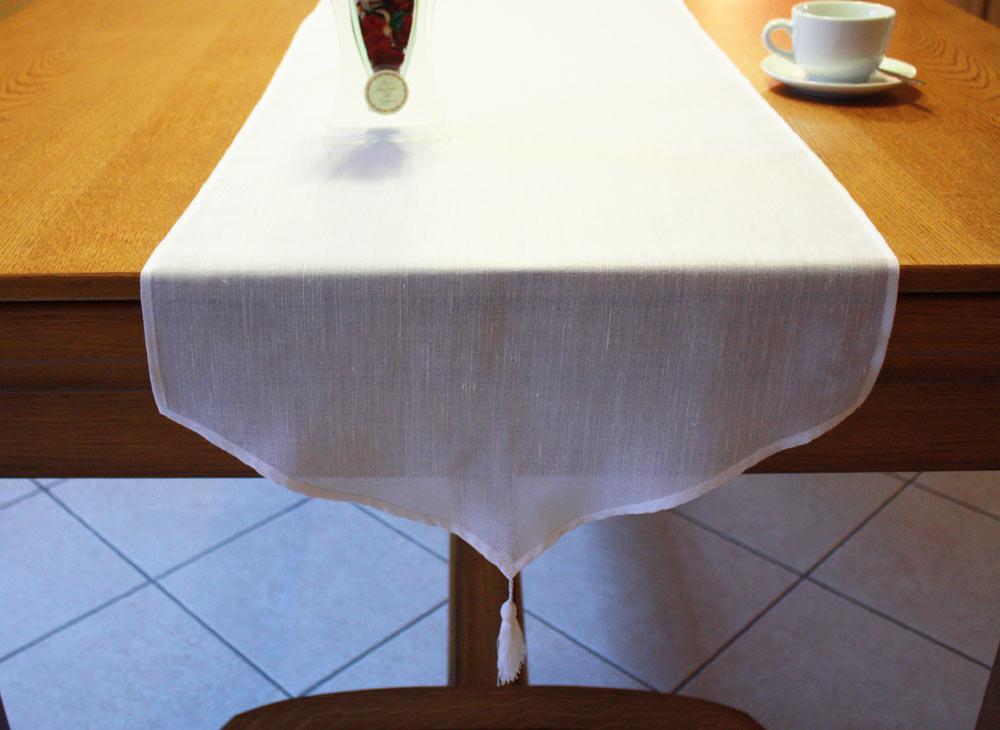 G nial chemin de table tissu chemin de table lin for Grande table a manger