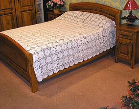 couvre lits en macram brod aspect crochet. Black Bedroom Furniture Sets. Home Design Ideas