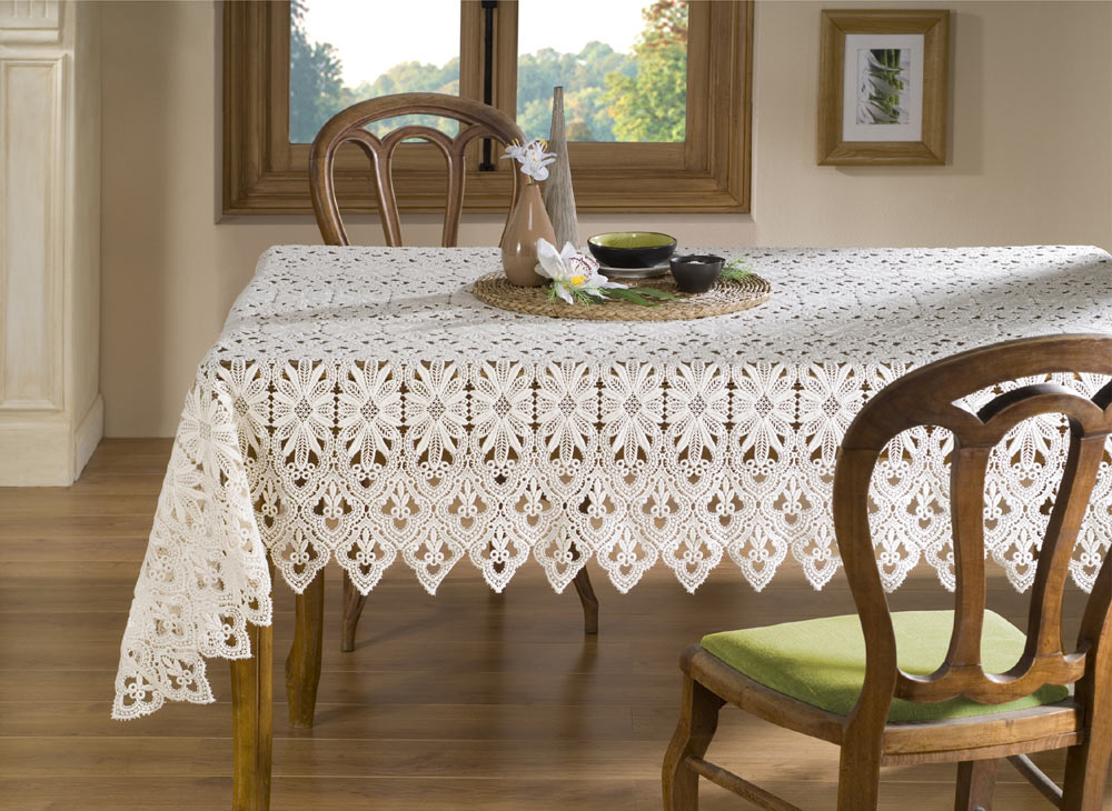 "Nappe macramé ""Tradition"" ecru"