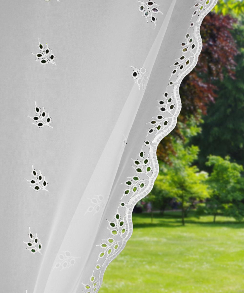 rideaux bonne femme en voilage brod amandine. Black Bedroom Furniture Sets. Home Design Ideas