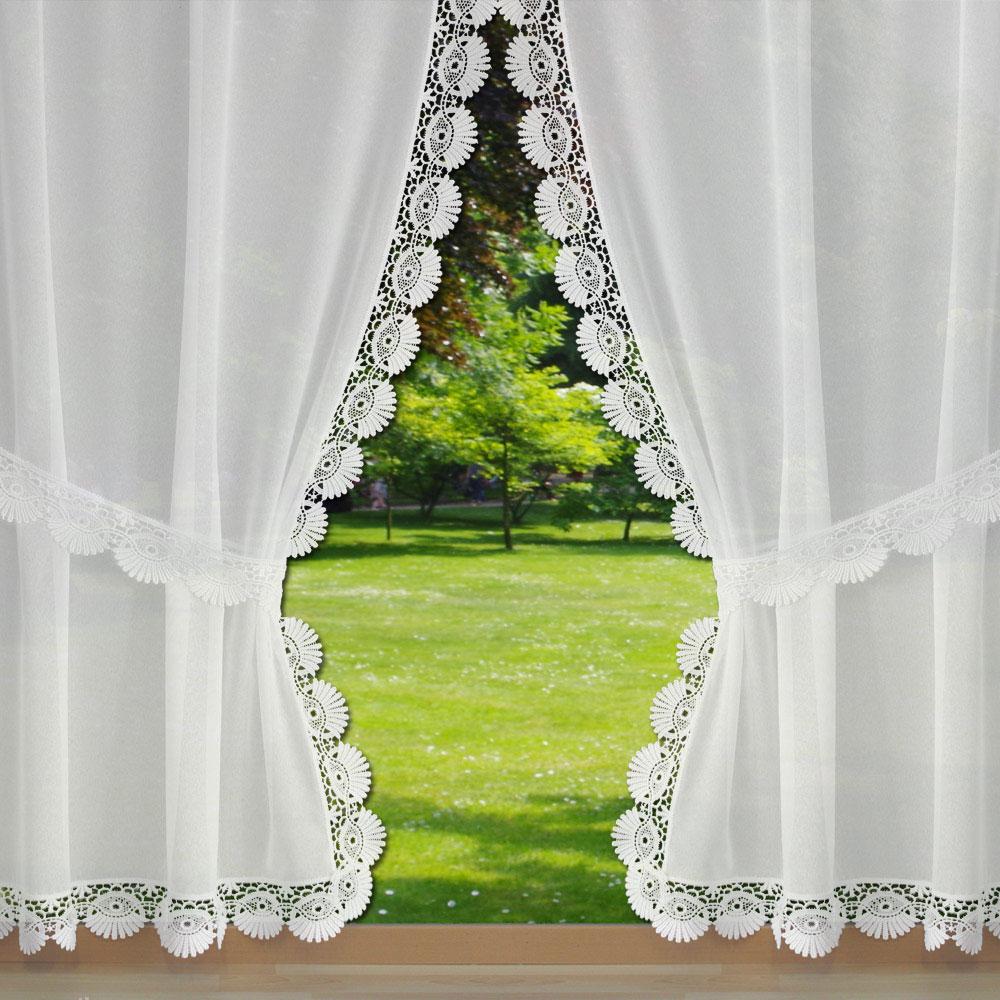 Rideaux voilages en lin ou polyester avec une finition macram - Rideaux bonne femme macrame ...