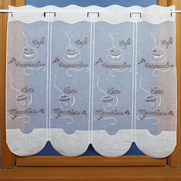 rideaux de cuisine cerise
