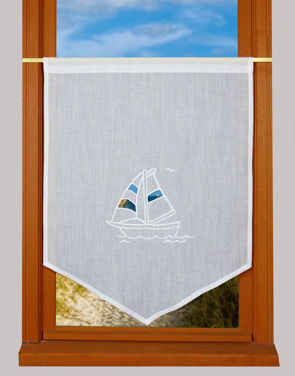 Brise bise voilier - Rideau bord de mer ...
