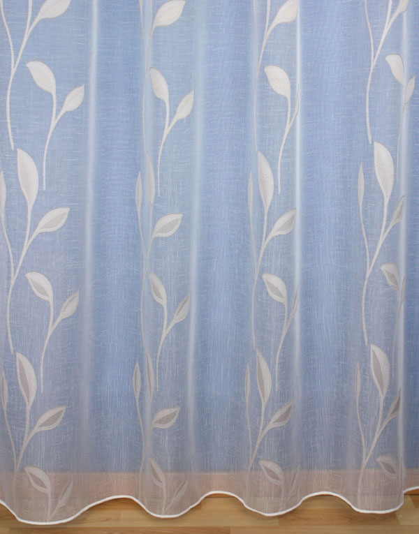 Voilage motif taupe