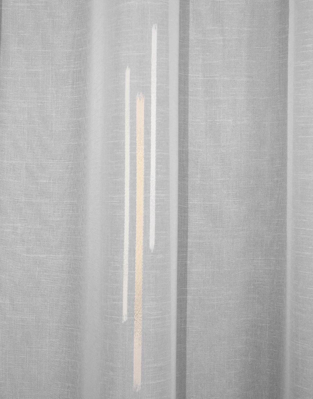 Voilages style contemporain motif gris ou beige au m tre - Voilage au metre ...