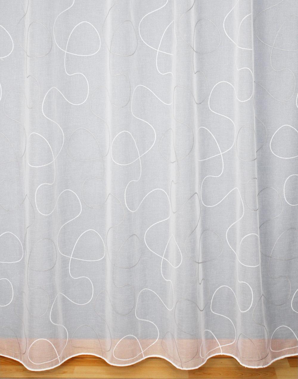 voilage tendance style contemporain avec motif blanc et. Black Bedroom Furniture Sets. Home Design Ideas