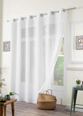 voilage uni sur mesure. Black Bedroom Furniture Sets. Home Design Ideas