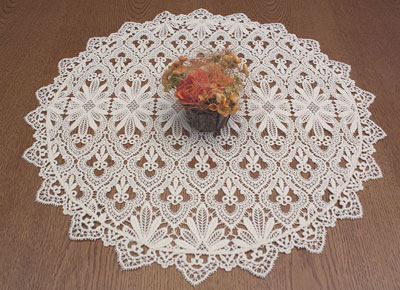 Grands napperons ronds aspect crochet