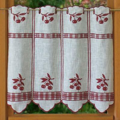 rideaux de cuisine cerise un parfait rideau de cuisine disponible en ...