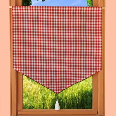 Rideaux de cuisine brise bise en voilage brod for Rideaux de cuisine campagne